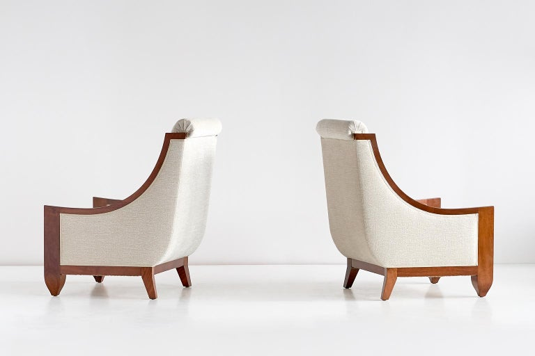 Important Pair of André Sornay Armchairs, France, Late 1920s In Excellent Condition For Sale In The Hague, NL