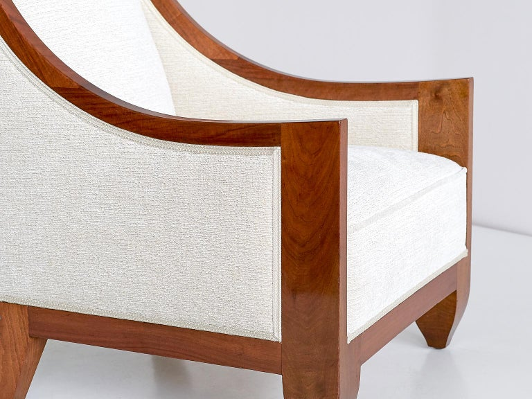 Important Pair of André Sornay Armchairs, France, Late 1920s For Sale 1