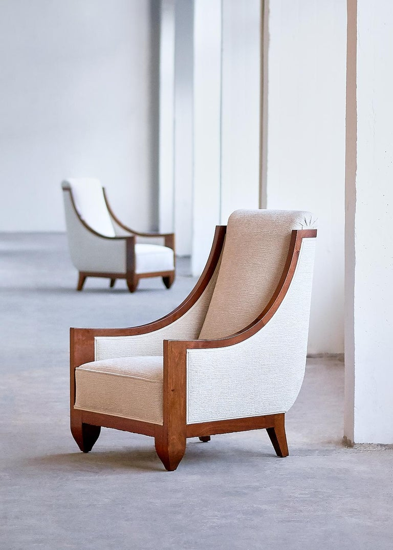 Important Pair of André Sornay Armchairs, France, Late 1920s For Sale 3