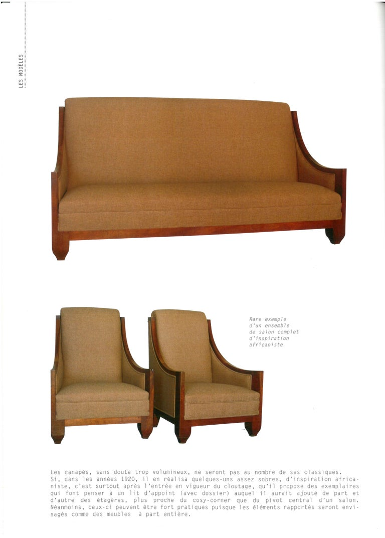 Important Pair of André Sornay Armchairs, France, Late 1920s For Sale 4
