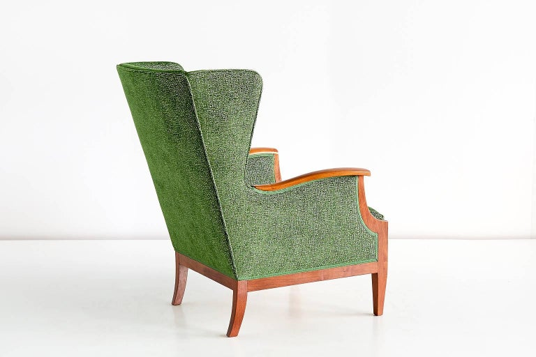 Scandinavian Modern 1930s Frits Henningsen Wingback Chair For Sale