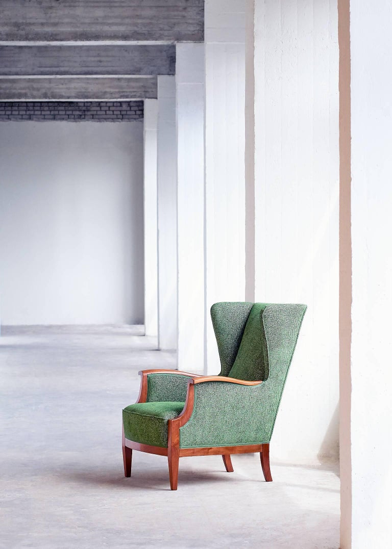 1930s Frits Henningsen Wingback Chair For Sale 2