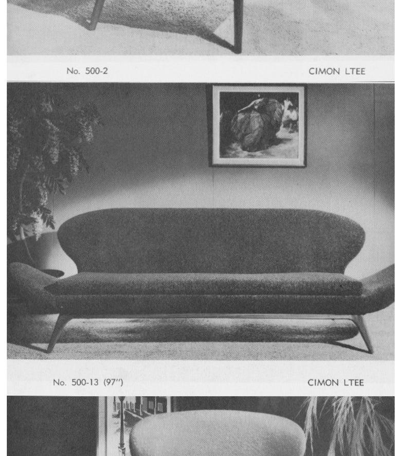 Exceptional Luigi Tiengo Sofa for Cimon Montréal, 1963 For Sale 3