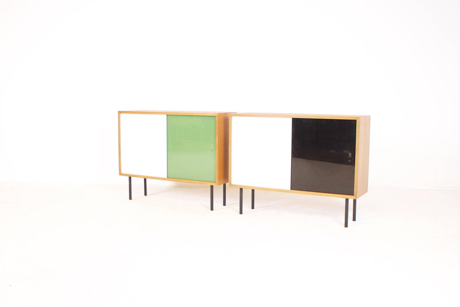 small teak cabinets by georg satink for wk m bel for sale. Black Bedroom Furniture Sets. Home Design Ideas