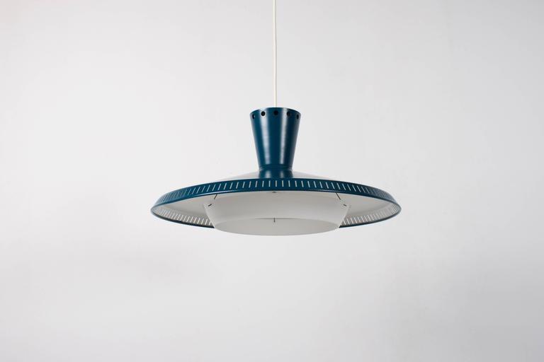 Dutch 1/6 Industrial Louis Kalff NB93 Pendant for Philips, 1950s For Sale