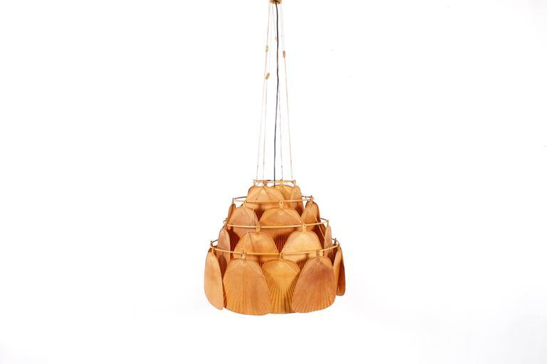 Rare Large Uchiwa Fan Chandelier by Ingo Maurer, 1975 2