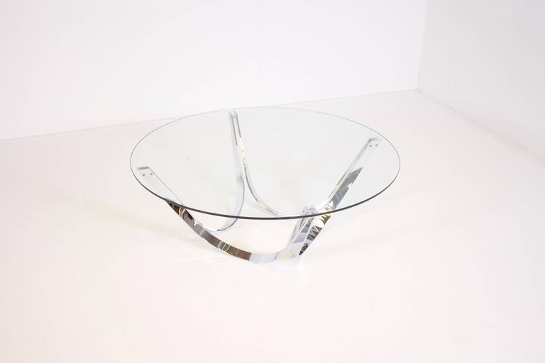American Sculptural Coffee Table Produced by Tri-Mark, 1970s For Sale