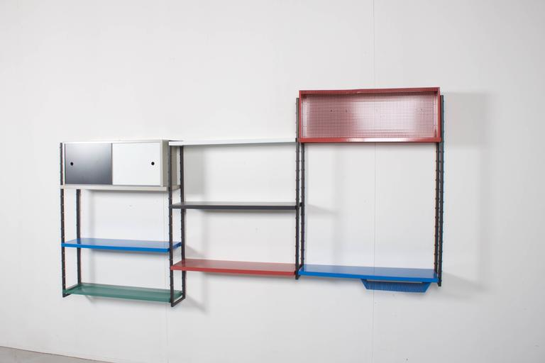 20th Century Impressive Metal Wall Unit Attributed to Mathieu Mategot, 1960s For Sale