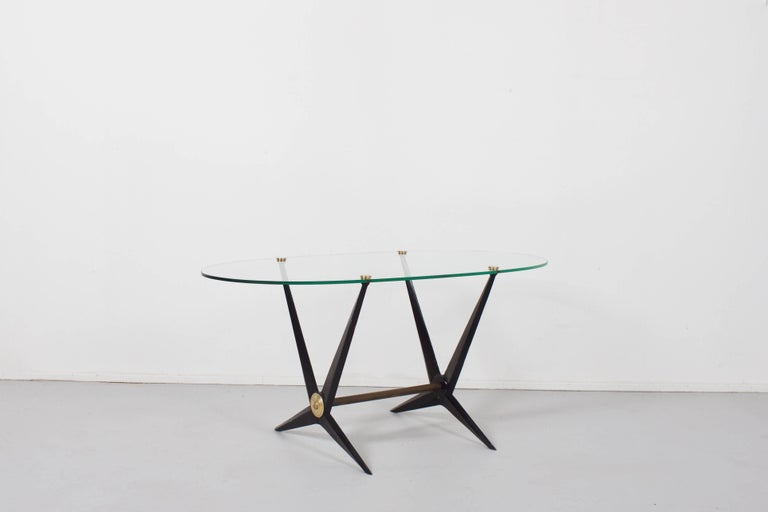 Lacquered Italian Angelo Ostuni Coffee or End Table, 1950 For Sale