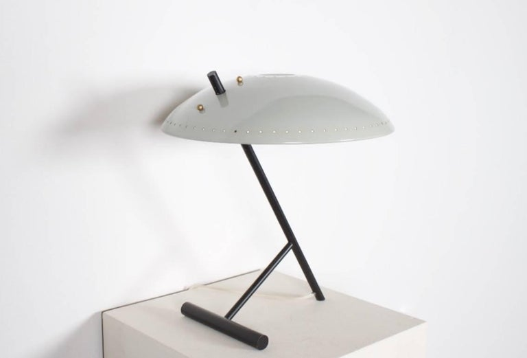 Midcentury Louis Kalff Table Lamp, 1960s In Excellent Condition For Sale In Echt, NL