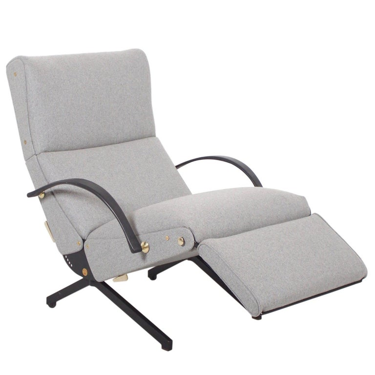 P40 Lounge Chair by Osvaldo Borsani for Tecno with New Upholstery, 1954 For Sale