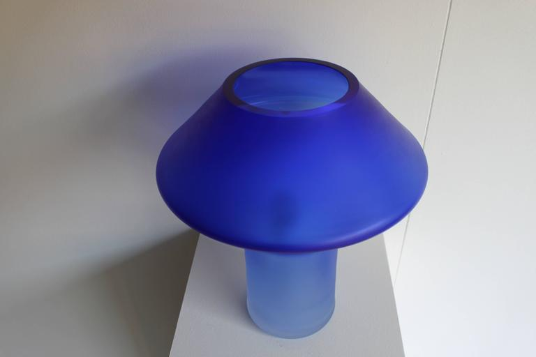 Large Murano Glass Table Lamp by Cenedese, 1960s In Excellent Condition For Sale In Echt, NL