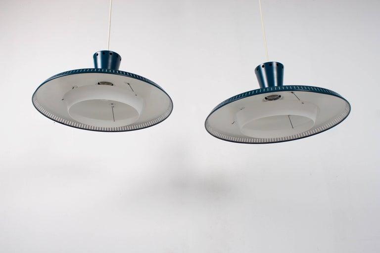Dutch 1/10 Industrial Louis Kalff NB93 Pendant for Philips, 1950s For Sale