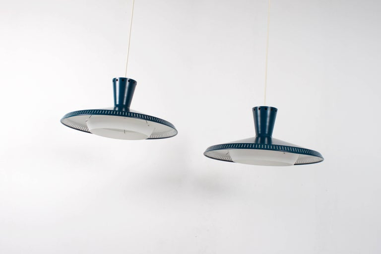 20th Century 1/10 Industrial Louis Kalff NB93 Pendant for Philips, 1950s For Sale