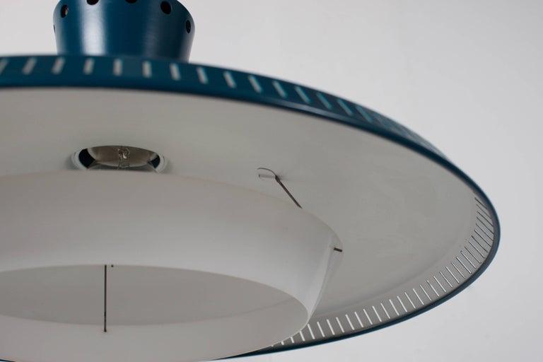 Plexiglass 1/10 Industrial Louis Kalff NB93 Pendant for Philips, 1950s For Sale