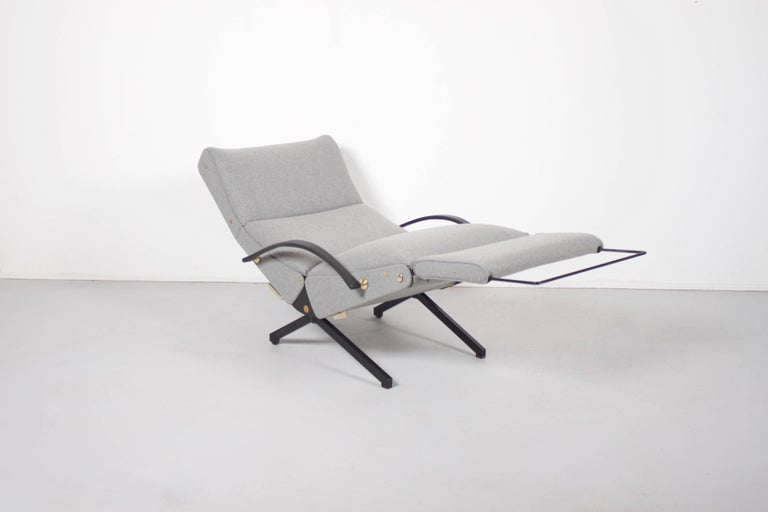 Mid-Century Modern P40 Lounge Chair by Osvaldo Borsani for Tecno with New Upholstery, 1954 For Sale