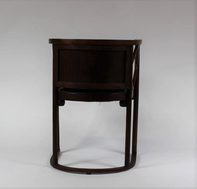 Josef Hoffmann Fledermaus Chair, Model No. 728, J. & J. Kohn 1913 In Fair Condition For Sale In Cimelice, Czech republic