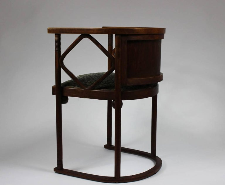 20th Century Josef Hoffmann Fledermaus Chair, Model No. 728, J. & J. Kohn 1913 For Sale
