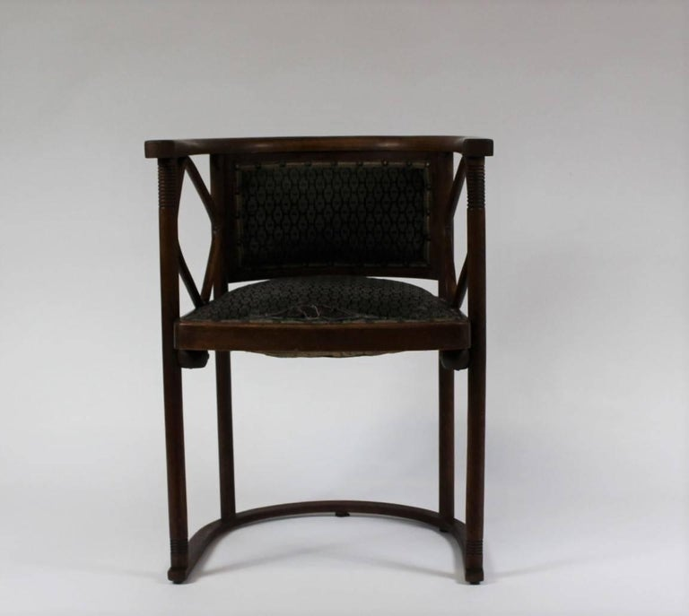 Vienna Secession Josef Hoffmann Fledermaus Chair, Model No. 728, J. & J. Kohn 1913 For Sale