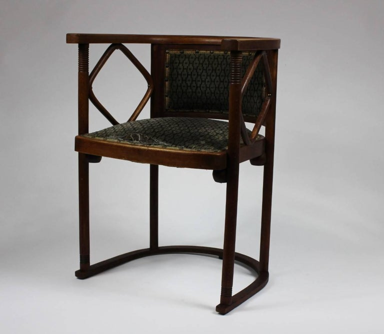 Austrian Josef Hoffmann Fledermaus Chair, Model No. 728, J. & J. Kohn 1913 For Sale