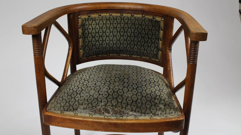 Fabric Josef Hoffmann Fledermaus Chair, Model No. 728, J. & J. Kohn 1913 For Sale