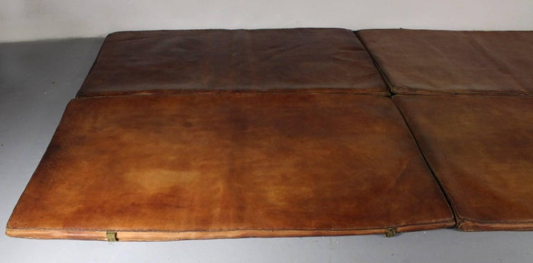 20th Century Set of Four Leather Gym Mats, 1940s For Sale
