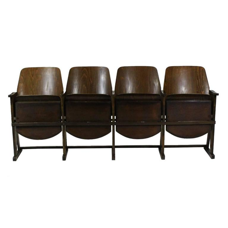 Pleasing Midcentury Cinema Seats Manufactured By Ton For Sale At 1Stdibs Caraccident5 Cool Chair Designs And Ideas Caraccident5Info