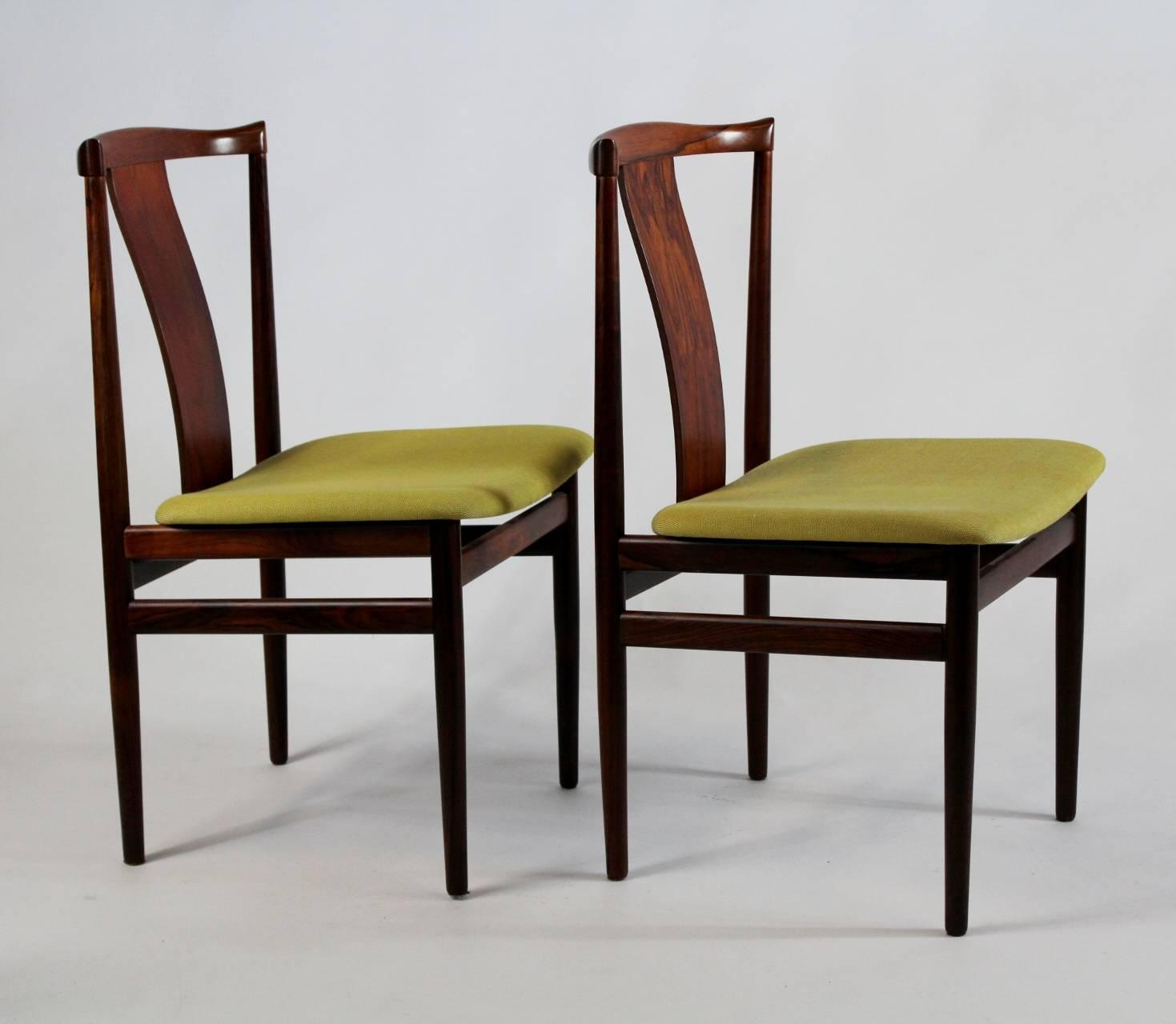 Set Of Six Rosewood Dining Chairs Denmark At 1stdibs