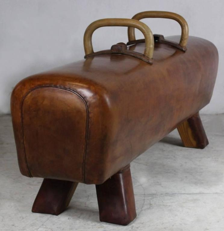 1950s Leather Gym Pommel Horse At 1stdibs
