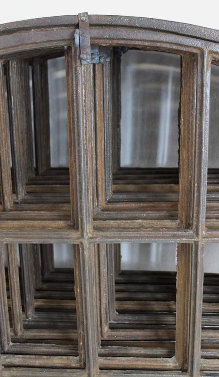 19th Century Industrial Iron Window Frame 20 Pcs