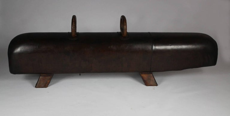 1920s Leather Gym Pommel Horse Bench At 1stdibs