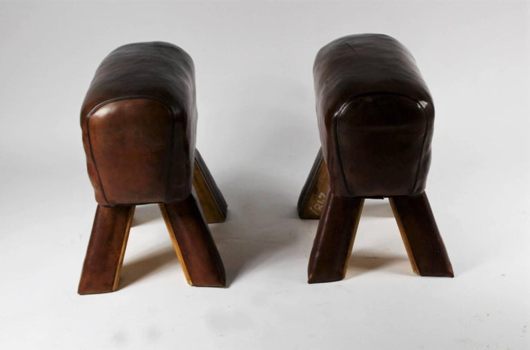 Pair of Leather Gym Stools 5