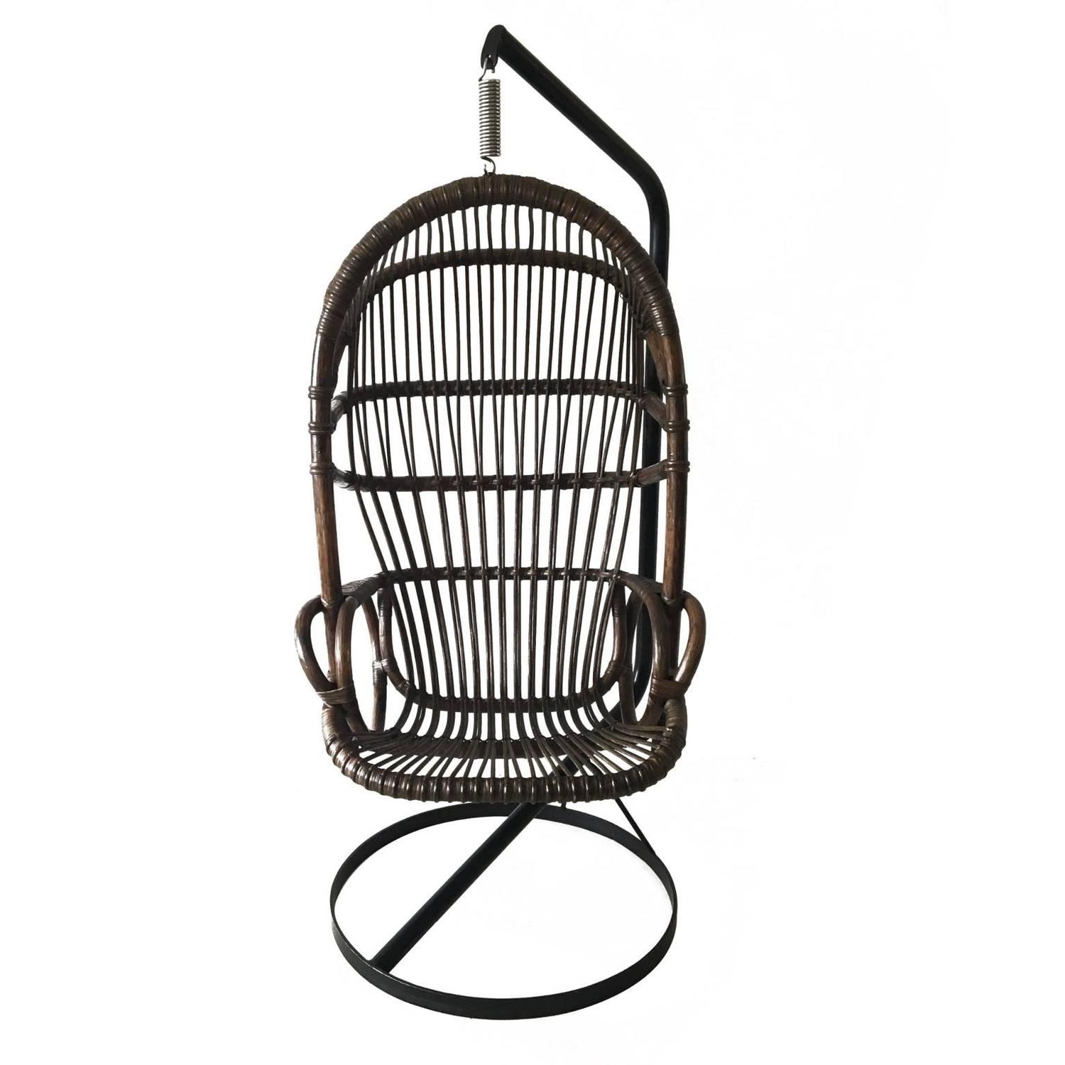 Cane Hanging Chair By Rohé Noordwolde, 1960s