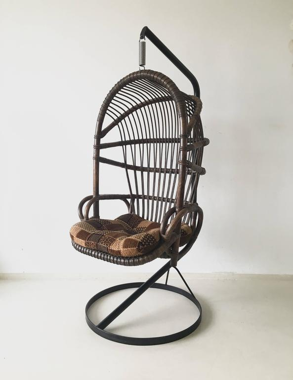 This Bamboo And Cane Hanging Chair Is A Famous 1960s Design From The  Netherlands. It
