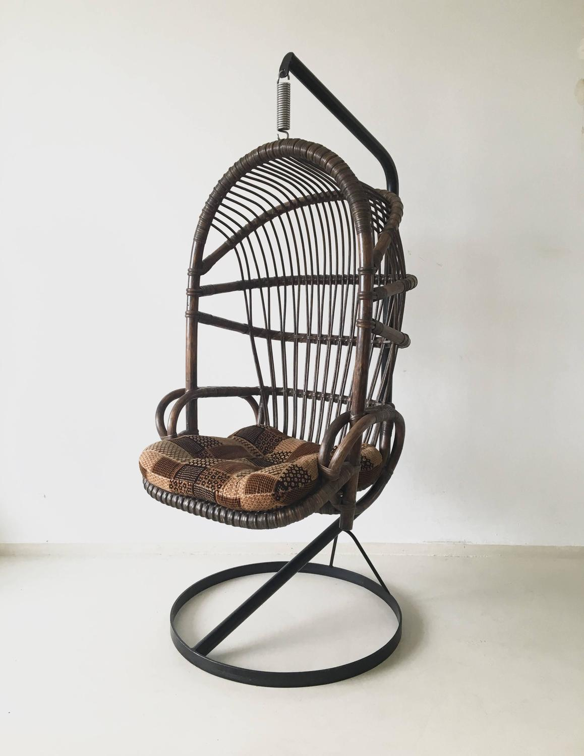 Cane Hanging Chair By Rohé Noordwolde, 1960s For Sale At 1stdibs