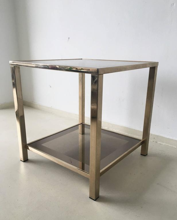Small 23 carat gold plated side table 1960s for sale at for Small gold side table