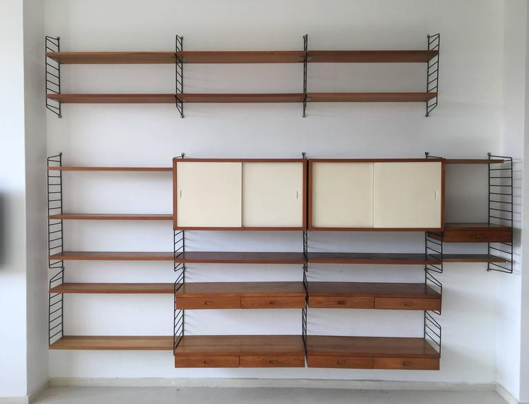 Other Reproduction Furniture String Shelf Nisse Wall Shelf 1960s 70s Shelf System 3 Flat Antiques