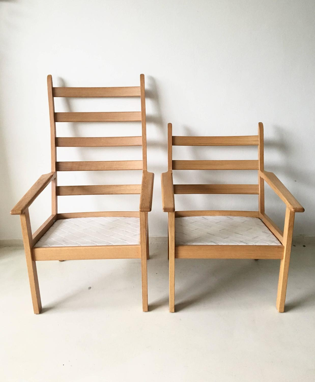 Set of chairs by hans wegner for getama 1980s for sale at for Lounge chair kopie