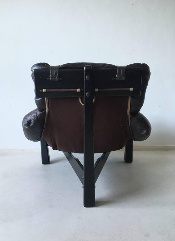 Tripod Lounge Chair by Gerard Van Den Berg, 1970s In Good Condition For Sale In Schagen, NL