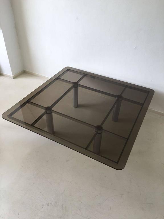 Italian Tobia Scarpa Square Glass Coffee Table for Gavina, 1960s For Sale