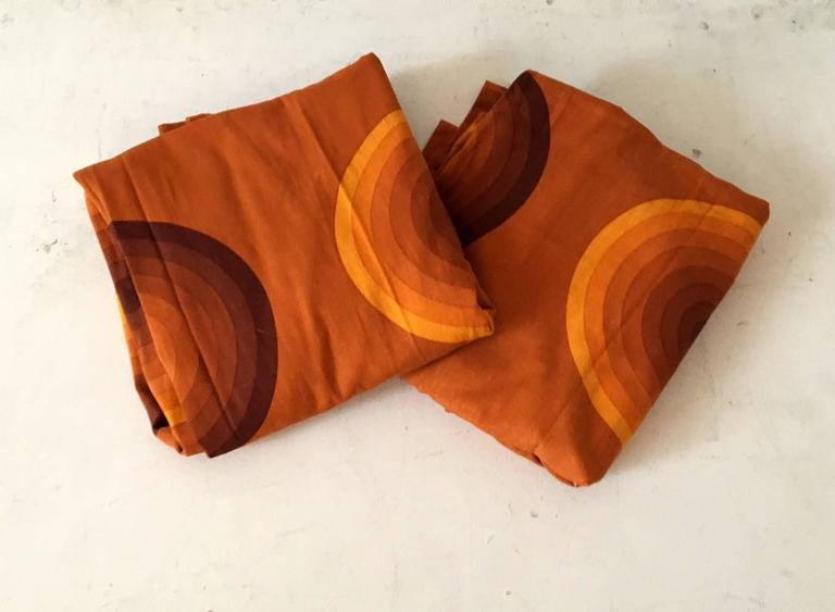 Danish Verner Panton Curtains or Textile for Mira, Large Amount, 1960s For Sale