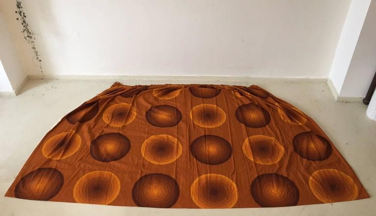Verner Panton Curtains or Textile for Mira, Large Amount, 1960s In Excellent Condition For Sale In Schagen, NL