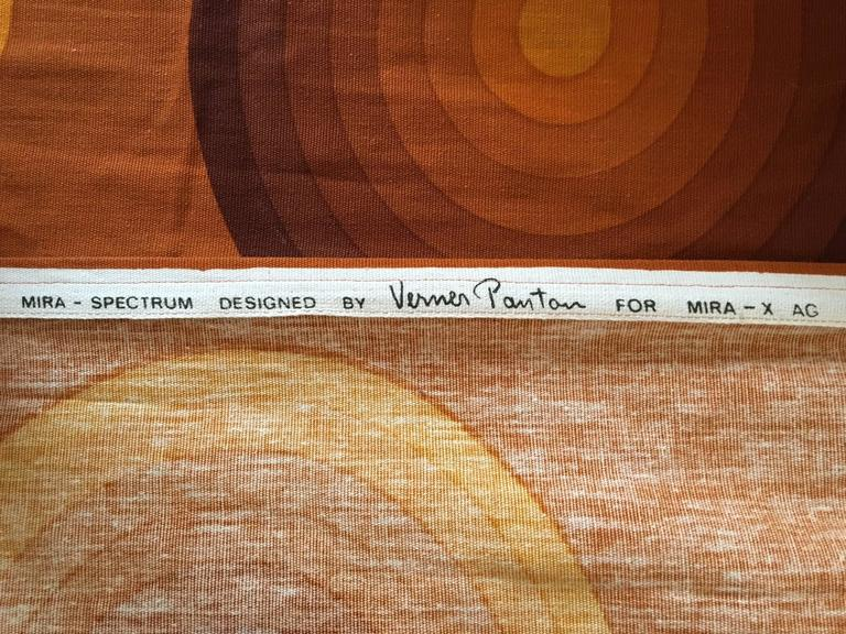 Space Age Verner Panton Curtains or Textile for Mira, Large Amount, 1960s For Sale