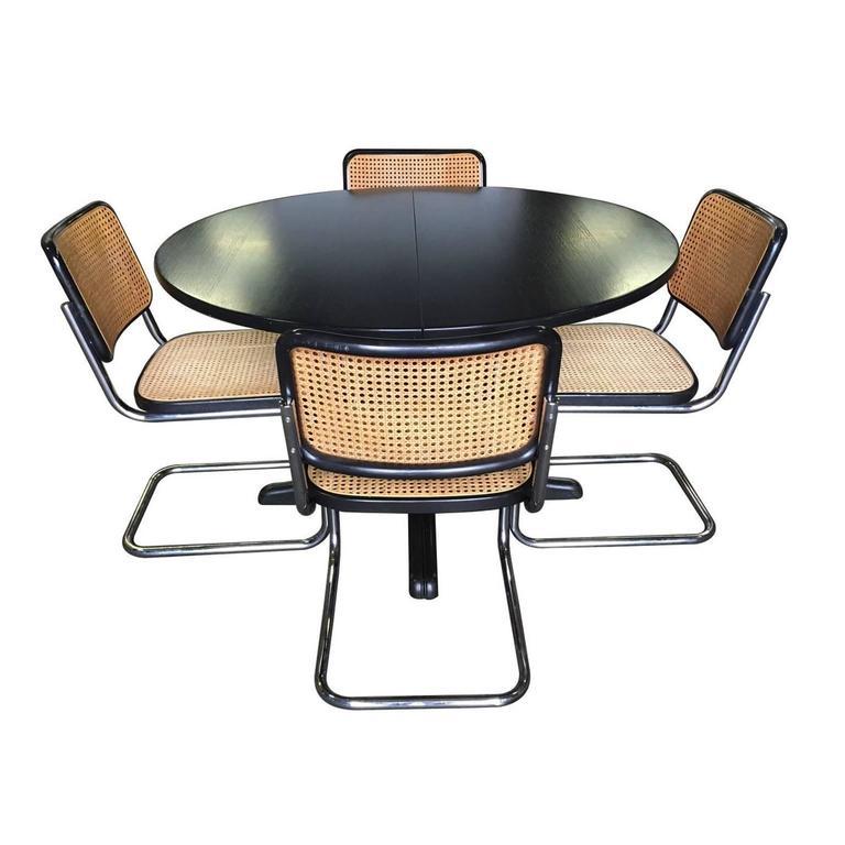 dining set by thonet and marcel breuer at 1stdibs. Black Bedroom Furniture Sets. Home Design Ideas