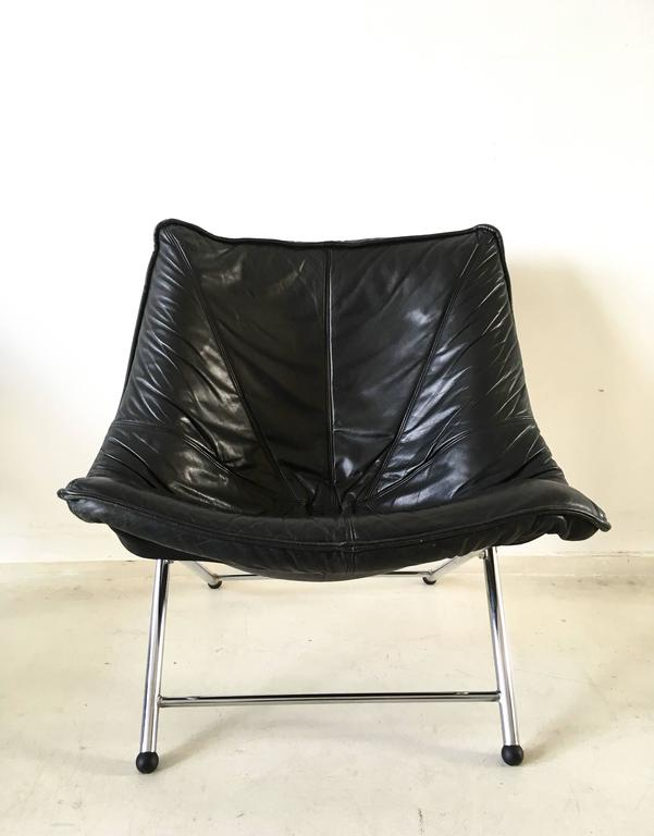 Molinari Foldable Leather Easy Chair By Teun Van Zanten