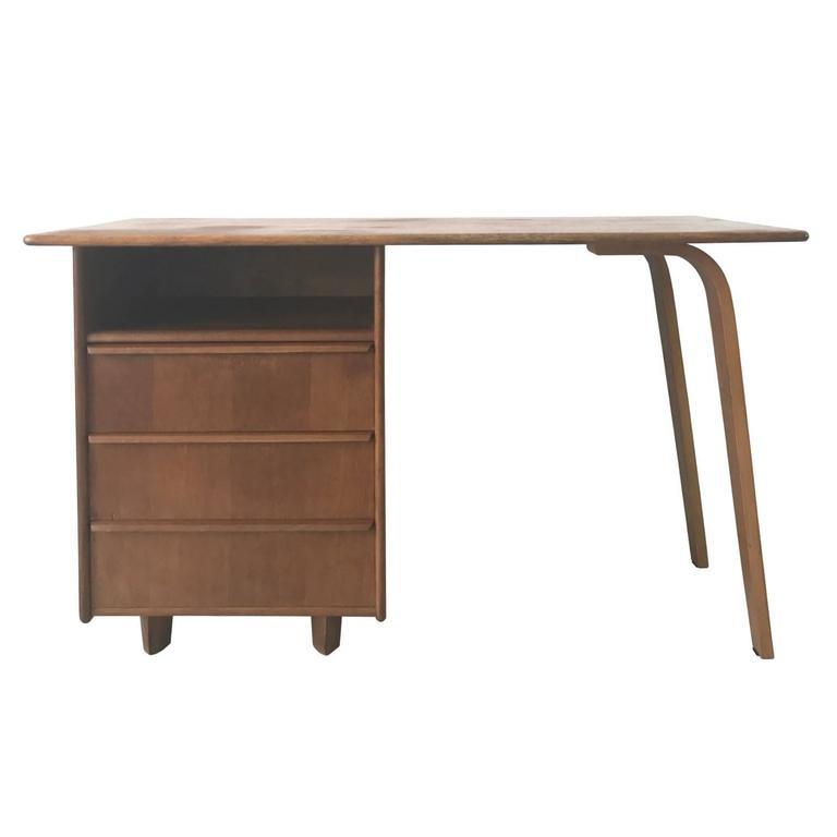 Cees Braakman for Pastoe EE02 Desk in Oak, 1940s