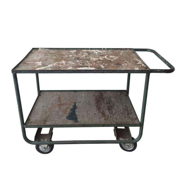Industrial Mid-Century Cart, Trolley, circa 1950s