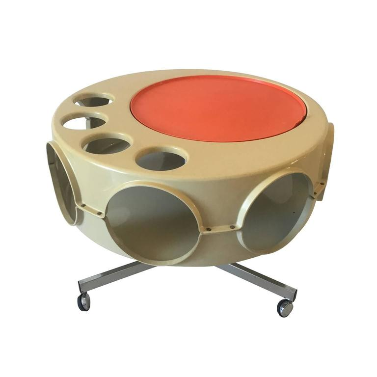 Vintage Industrial Space Age Coffee Table For Sale At Pamono: Vintage Space Age Rotobar By Curver, 1970s At 1stdibs