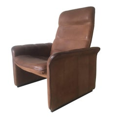 Adjustable Leather Lounge Chair, Model DS-50 by De Sede, 1960s
