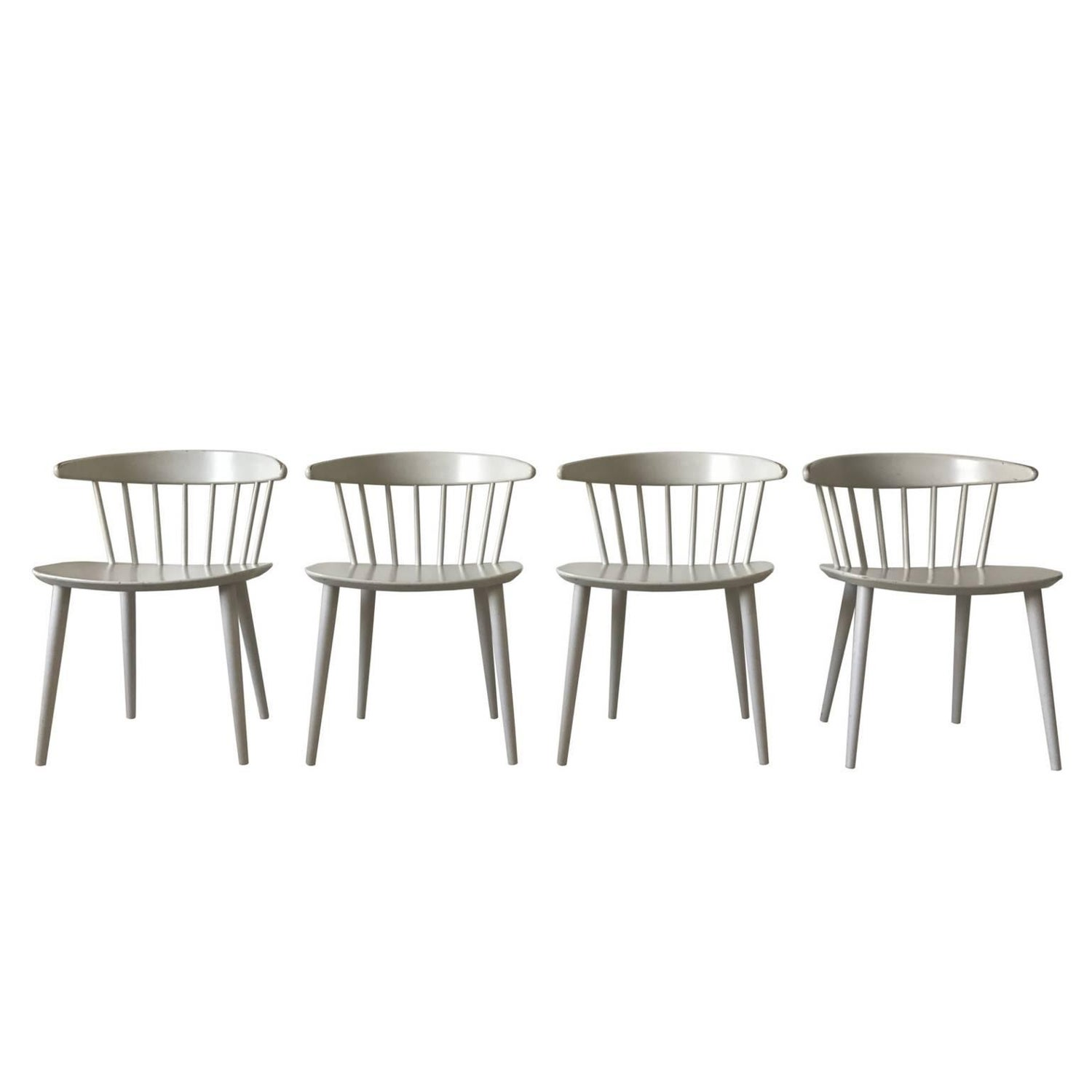 Stunning White J104 Dining Chairs by J¸rgen B¦kmark for FDB M¸bler